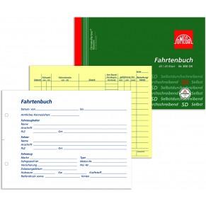 OMEGA Fahrtenbuch 830 OK A5 quer 2 x 40 Blatt Selbstdurchschreibend