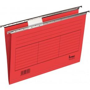 BENE Hängemappe 116505 5 Stück A4 aus Karton rot