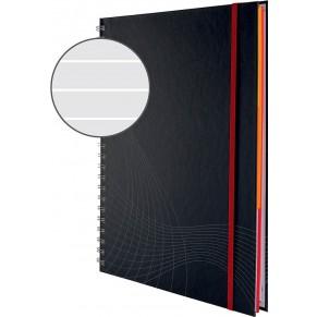 AVERY ZWECKFORM Notizbuch Hardcover A4 90 Blatt liniert dunkelgrau