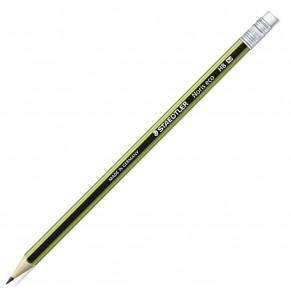 STAEDTLER Bleistift Noris Eco 182 mit Radiergummi HB grün
