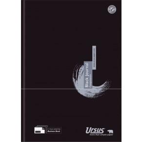 URSUS Geschäftsbuch Black A4 80 Blatt kariert schwarz