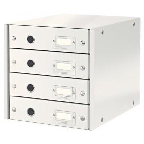 LEITZ Schubladenbox 6049 Click & Store 4 Laden weiß