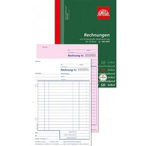 OMEGA Rechnungsbuch 949 OKN A5 2 x 50 Blatt selbstdurchschreibend