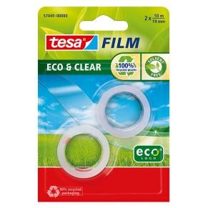 TESA Klebeband Eco & Clear 19 mm x 10 m 2 Stück transparent