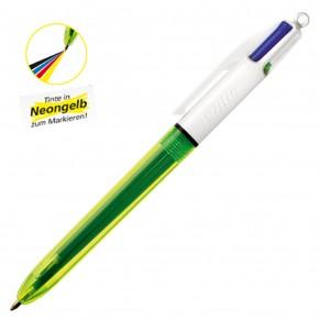 BIC Kugelschreiber 933948 4 Colours Fluo mit Neon-Tinte