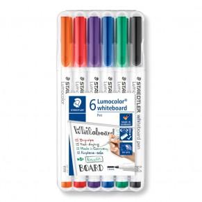 STAEDTLER Whiteboardmarker Lumocolor® whiteboard pen 301 6 Stück 1 mm farbig sortiert