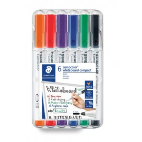 STAEDTLER Whiteboardmarker Lumocolor® whiteboard compact 341 6 Stück 1-2 mm farbig sortiert