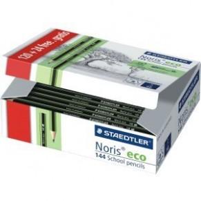 STAEDTLER Bleistift Noris® eco 182 mit Radiertip 144 Stück HB