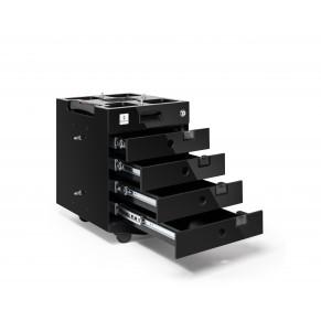 MORESY Businessmodul MB4 mit 4 Schubladen schwarz
