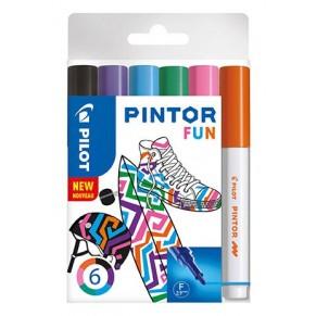 PILOT Kreativmarker Pintor Fun 6 Stück F farbig sortiert