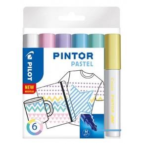 PILOT Kreativmarker Pintor Pastell 6 Stück M farbig sortiert