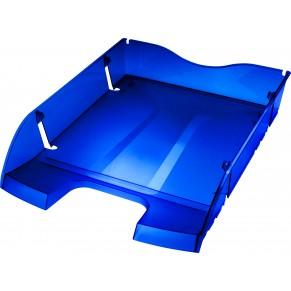 HELIT Briefablage the green deck Greenlogic DIN A4/C4 blau-transparent