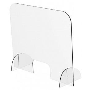 ARISTO Spuckschutz aus Plexiglas quer 84,1 x 70 x 25 cm transparent