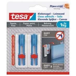 TESA Klebenagel Leinwand für Tapeten und Putz 77778 2 Stück 1 kg weiß