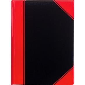 Pagro Chinabuch A4 96 Blatt 60 G M Kariert Schwarz Rot