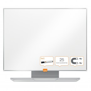 NOBO Whiteboard Prestige mit Emailleoberfläche 600 x 450 mm weiß