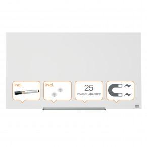 """NOBO Whiteboard Widescreen aus Glas 677x381 mm (31"""") brillantweiß"""