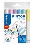PILOT Kreativmarker Pintor Pastell 6 Stück F farbig sortiert