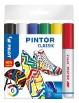 PILOT Kreativmarker Pintor Klassik 6 Stück M farbig sortiert