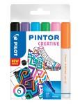PILOT Kreativmarker Pintor Fun 6 Stück M farbig sortiert