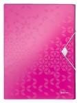 LEITZ Ablagebox WOW 4629 mit Gummiverschluss aus Polypropylen 250 x 30 x 330 mm pink