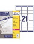 AVERY ZWECKFORM Adressetiketten ultragrip L7160-100 2.100 Stück 63,5 x 38,1 mm weiß