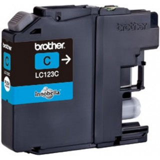 BROTHER Tintenpatrone LC123 0,6K cyan