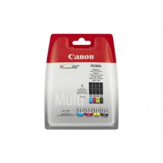 CANON Tinte CLI551 9 ml schwarz/cyan/gelb/magenta