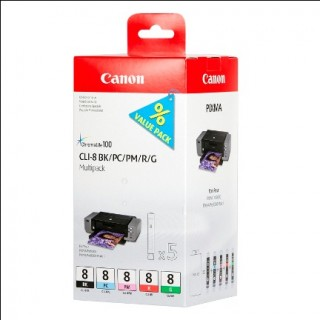 CANON Tintenpatrone CLI8 schwarz/cyan/magenta/rot/grün