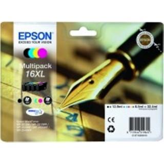 EPSON Tinte Multipack Nr. 16XL 4 Stück schwarz, cyan, magenta, gelb
