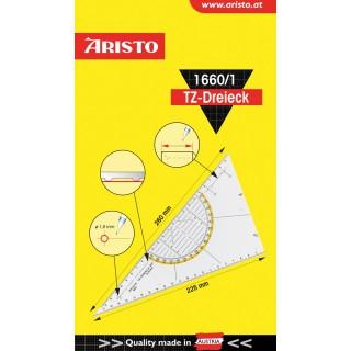 ARISTO TZ-Dreieck ungleichschenklig 60° 26 cm transparent