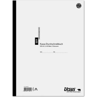 URSUS Kassabuch 889 A4 2 x 50 Blatt 5 Kolonnen