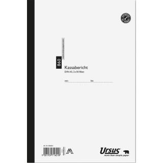 URSUS Kassabericht A5 2 x 50 Blatt weiß