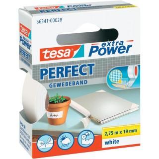 TESA Gewebeband Extra Power 19 mm x 2,75 m weiß