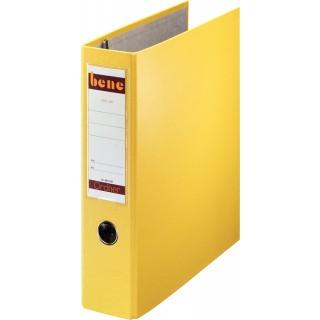 BENE Postscheckordner 292900 A5 quer 2-Mechanik 7,5 cm gelb