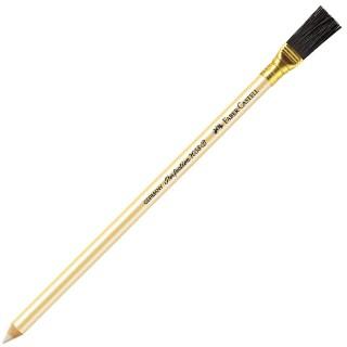 FABER-CASTELL Radierstift 1858 Perfection mit Bürste weiß