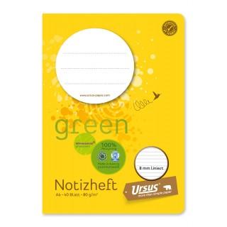 URSUS GREEN Heft A6 40 Blatt liniert