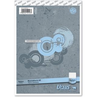 URSUS Block A5 Blatt kariert 5mm 70g/m² 100 Blatt
