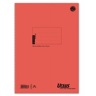 URSUS Spiralheft A4 48 Blatt liniert
