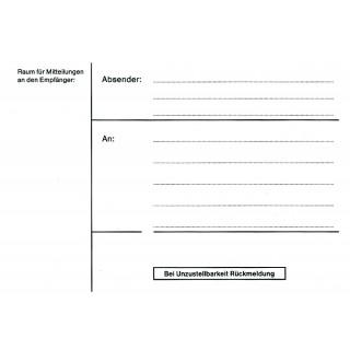 URSUS Paketadressheft A6 25 Blatt