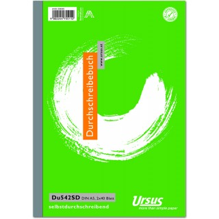 URSUS Durchschreibebuch A5 2 x 40 Blatt