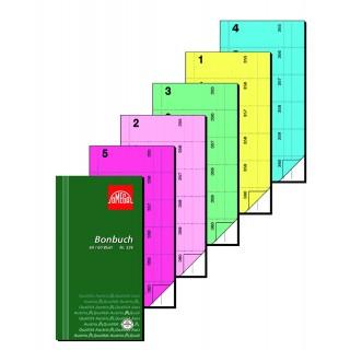 OMEGA Bonbuch 2x60 Blatt 360 Abrisse 10,5x19,8 cm blau