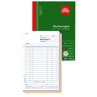 OMEGA Rechnungsbuch 2949 OK A5 3 x 50 Blatt