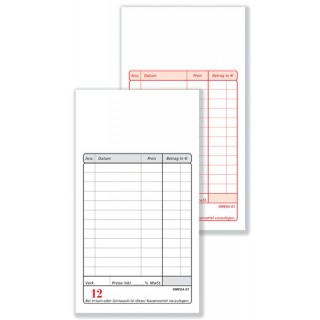 OMEGA Kassablock G2/0 2 x 50 Blatt weiß/weiß