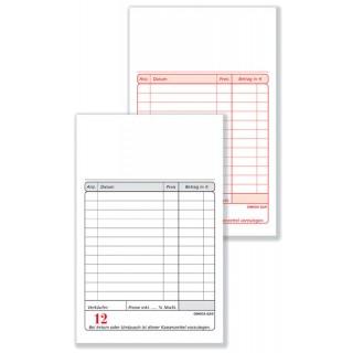 OMEGA Kassablock G2S/0 2 x 50 Blatt weiß/weiß