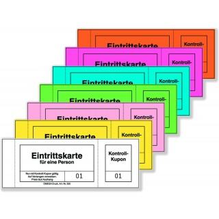 OMEGA Eintrittskarten 320/1 100 Blatt 14 x 5 cm gelb