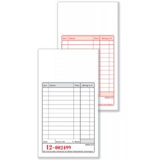 OMEGA Kassablock G1S 2 x 50 Blatt weiß/weiß