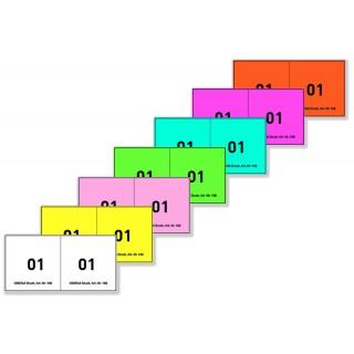 OMEGA Bonblock 106/2 100 Blatt 2x Blattnummer 10x5 cm rosa
