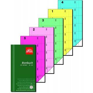 OMEGA Bonbuch 326/2 2x60 Blatt 360 Abrisse 10,5x19,8 cm rosa