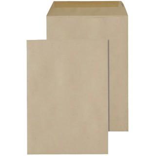 ÖKI Tasche 500 Stück B5 90 g/m² gummiert braun